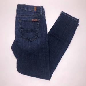7FAM | Josefina Skinny Boyfriend Dark Wash Jeans